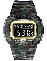 Недорогие -SMAEL Муж. Спортивные часы Цифровой Спортивные Pезина Черный 30 m Армия Светодиодная лампа Хронометр Цифровой На открытом воздухе - Черный Черно-белый Светло-синий Один год Срок службы батареи