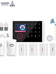 Недорогие -Wi-Fi + GSM Multi-Network Language Wireless GSM охранная сигнализация Wi-Fi домашняя сигнализация хозяин беспроводная система дверной звонок другие / системы домашней сигнализации / сигнализация