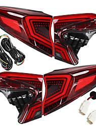 Недорогие -Пара красных линз светодиодная вспышка автомобиля задние задние стоп-сигналы лампы для Toyota Chr 2018-2019
