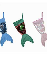 Недорогие -рождественские украшения 16 дюймов рыбий хвост флип-бусы рождественские чулки рождественские носки подарочные пакеты