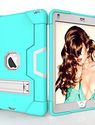 Недорогие -Кейс для Назначение Apple iPad Air / iPad 4/3/2 / iPad (2018) Защита от удара / со стендом Кейс на заднюю панель Однотонный ТПУ / ПК