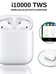 Недорогие -Оригинальные беспроводные наушники i10000 tws Bluetooth 5.0 с сенсорным управлением для наушников Портативная спортивная гарнитура Беспроводная зарядка qi Inear Check