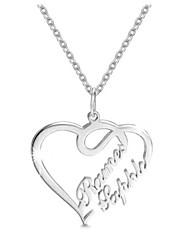 Недорогие -Персонализированные Индивидуальные Цепочка Сердце Подарок Повседневные Праздники Heart Shape 1pcs Серебряный / Лазерная гравировка