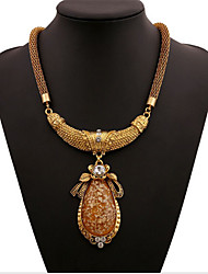 billige -Dame Halskjede geometriske Blomst Mote Zirkonium Chrome Gull 45+5 cm Halskjeder Smykker 1pc Til Daglig