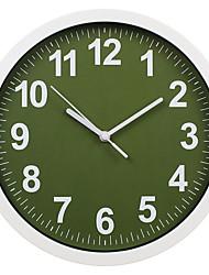 Недорогие -настенные часы, современный современный настенный пластик&усилитель; металлический акриловый пластик круглый крытый