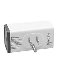 billige -sonoff s55 tpf-de wi-fi vanntett smart stikkontakt med batteriovervåking - oss plugg