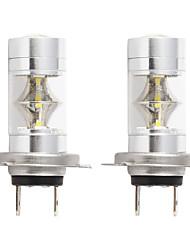 povoljno -2pcs / lot auto 2835 led h7 svjetlo za maglu 2835 led 12smd auto-svjetlo drl 6000k bijelo 12v