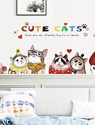 billige -søt kitty pvc veggklistremerker - flyklistremerker transport / landskapsstudierom / kontor / spisestue / kjøkken