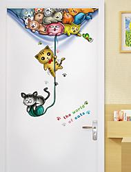 billige -tegneserie ballong små dyr pvc veggklistremerker - plane veggklistremerker transport / landskapsstudierom / kontor / spisestue / kjøkken