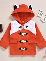 billige -Baby Gutt Aktiv / Grunnleggende Ensfarget Lapper Normal Dress og blazer Oransje