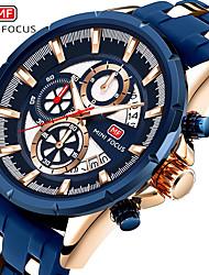 Недорогие -Муж. Нарядные часы Кварцевый Формальный Современный силиконовый Черный / Синий 30 m Защита от влаги Повседневные часы Крупный циферблат Аналоговый Классика Мода -