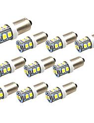 povoljno -10pcs ba9s / bax9s led žarulje 10 smd 2835 stražnja svjetla automobila kupola lampica registarske tablice svjetla bijela DC 12v