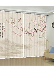 Недорогие -классическая китайская птица фэнхуа цифровая печать 3d занавес тень занавес высокой точности черный шелк ткань высокого качества первоклассный оттенок спальня гостиная занавес