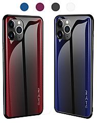 Недорогие -градиент текстуры закаленного стекла для iphone 11 pro max / iphone 11 pro / iphone 11 / xs max xr xs x 8 плюс 8 7 плюс 7 6 плюс 6 чехлов для телефонов силиконовый мягкий тпу защитный чехол