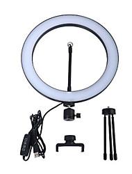 Недорогие -светодиодные селфи кольцо подсветки 26 см с регулируемой яркостью камеры телефон кольцо лампы 10 дюймов с настольные штативы для макияжа видео в прямом эфире студии