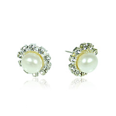 10.5-11mm AA White Freshwater Pearl Earring