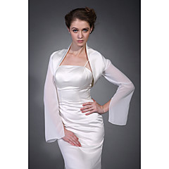 cheap Party Accessories-Half Sleeves Polyester Party / Evening Women's Wrap With Embroidery Coats / Jackets