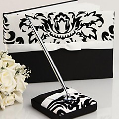Guest Book Pen Set Satin Garden ThemeWithBow Sash Wedding Ceremony