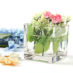 cheap -Table Centerpieces Square Glass Centerpiece  Table Deocrations