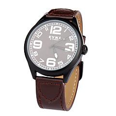 billiga Klockor-Herr Tryck-dra PU Band Armbandsur