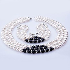 Freshwater Pearl Jewelry Set – Necklace, Bracelet And Earrings