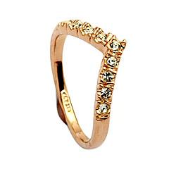 お買い得  指輪-指輪 女性用 クリスタル 合金 合金 フリーサイズ ゴールド 色とスタイルの表現は、モニターによって異なる場合があります.誤植または絵のエラーの責任を負いません.