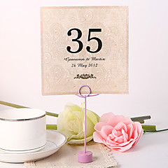 Pearl Paper Table Number Cards Poly Bag Placecard Holders Wedding Reception
