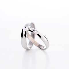 cheap Bride Gifts-Women's Couple's Statement Ring Platinum Plated Love Fashion Daily Costume Jewelry