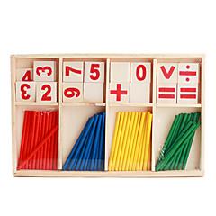 Holz-Arithmetik-Sticks Requisiten für Kinder eingerichtet