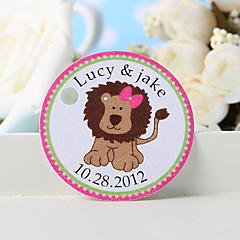 billige Klistremerker og etiketter-personlig favorittsymbol - rosa løve (sett med 36) bryllup favoriserer