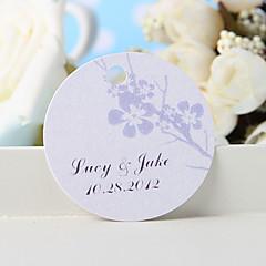 baratos Lembrancinhas Personalizadas-etiqueta de favor personalizada - flor de ameixa prateada (conjunto de 36) favores de casamento