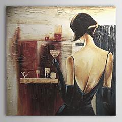 Kézzel festett Emberek Egy elem Vászon Hang festett olajfestmény For lakberendezési
