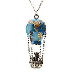 abordables -Femme Pendentif de collier - Montgolfière Mode Bleu Colliers Tendance Pour Quotidien