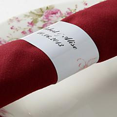 gepersonaliseerde papieren servetring - rode bloem (set van 50) huwelijksreceptie