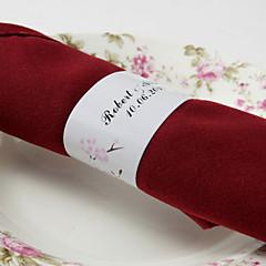 gepersonaliseerde papieren servetring - gelukkig paar (set van 50) huwelijksreceptie