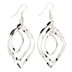 Modieuze Multilayer Button-vormige Sterling Silver Earring