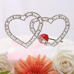 Cake Topper Garden Theme Classic Theme Classic Couple Hearts Wedding Anniversary Bridal Shower With Rhinestone OPP