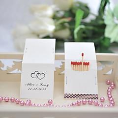 Χαμηλού Κόστους Εξατομικευμένα Σπιρτόκουτα-Εξατομικευμένο σπιρτόκουτο Hard Card Paper / Μεικτό Υλικό Διακόσμηση Γάμου Γαμήλιο Πάρτι Κλασσικό Θέμα Όλες οι εποχές