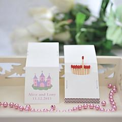 billige Bryllupsdekorasjoner-bryllupet innredning personlige matchbooks - castle (sett av 50)