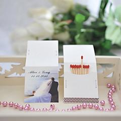 Χαμηλού Κόστους Εξατομικευμένα Σπιρτόκουτα-Πάρτι / Πάρτι / Βράδυ Υλικό Hard Card Paper Διακόσμηση Γάμου Παραλία Θέμα / Διακοπών / Κλασσικό Θέμα / Γάμος Άνοιξη Καλοκαίρι Όλες οι