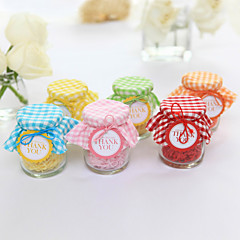 cheap Favor Holders-Cylinder Creative Glass Favor Holder with Pattern Candy Jars and Bottles - 12