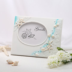 Elegant Beautiful Beach Themed Resin Guestbook Wedding Ceremony