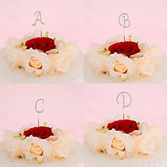 Kakepynt Ikke-personalisert Monogram Krom Bryllup / Jubileum / Bridal Shower / 15- og 16-års bursdag / Bursdag Rhinestone SølvKlassisk