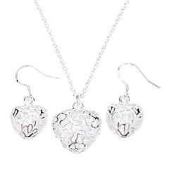 tanie Zestawy biżuterii-Damskie Zestawy biżuterii Srebro standardowe Srebrny Stop Modny Impreza Specjalne okazje Rocznica Urodziny Zaręczynowy Prezent Náušnice