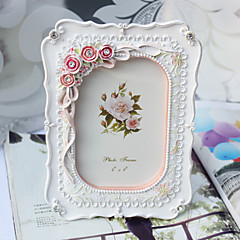Floral Theme Resin Photo Frames Pink / White Wedding Favors Beautiful