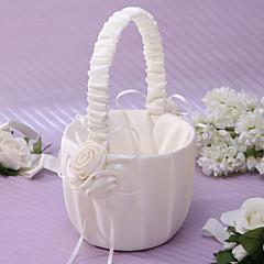 """voordelige Huwelijksceremonie-Bloemen Mand Satijn 8 3 / 5 """"(22 cm) Bloemblaadje"""