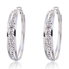 Fashion Alloy Claw Rhinestone Hoop Earrings Classical Feminine Style