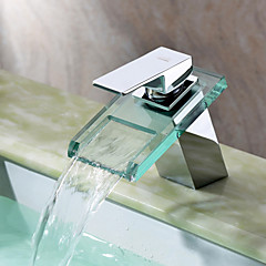 Contemporary  with  Chrome Single Handle One Hole  for Waterfall Centerset