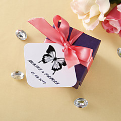 cheap Stickers, Labels & Tags-Personalized square tags - Classic Butterfly (set of 36) Wedding Favors