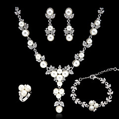 cheap -Women's Imitation Pearl Rhinestone Wedding Party Special Occasion Anniversary Birthday Engagement Gift Daily Alloy Earrings Necklaces